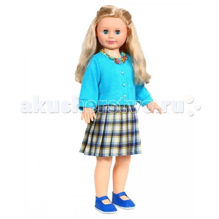 Весна Кукла Милана 22 озвученная 70 смКукла Милана 22 озвученная 70 смВесна Кукла Милана 22 озвученная 70 см может стать настоящей подружкой для ребёнка.  Особенности: Конструкция куклы позволяет изменять ее позу - сажать, ставить на ножки. При нажатии на звуковое устройство, вставленное в спинку, кукла произносит фразы.  Продуманная конструкция куклы позволяет её сажать, ставить на ножки, переодевать.  Наличие элементов одежды, которые легко снимаются и надеваются, разнообразит возможности сюжетно-ролевых игр с этой куклой, в процессе которых развивается мелкая моторика и творческое воображение ребёнка.  Игра с куклой в красивой одежде приучает детей к аккуратности, формирует чувство стиля. Игры с этой куклой дают ребёнку возможность проявлять заботу, формируют навыки ответственного поведения.  Цвет волос, глаз и одежды куколки может отличаться от представленного на фото.<br>