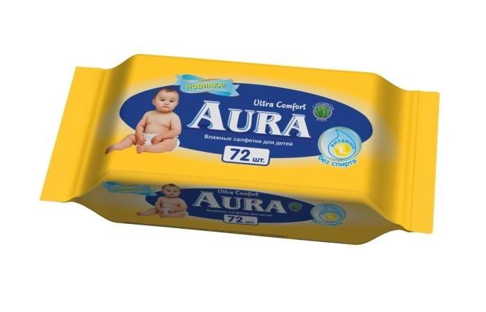 Салфетки Aura Влажные салфетки Ultra Comfort 72 шт.