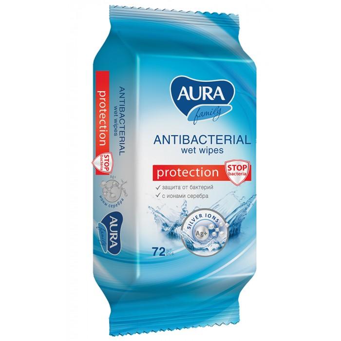 Салфетки Aura AURA Влажные салфетки антибактериальные для всей семьи FAMILY 72 шт. smile салфетки влажные special 15 шт антибактериальные с подорожником