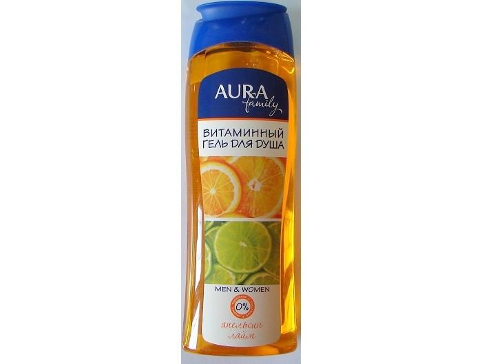 Косметика для мамы Aura Гель для душа Апельсин и Лайм витаминный 250 мл nivea гель для душа спорт 250 мл