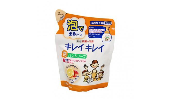 Фото Косметика для мамы Lion Kirei Kirei Пенное мыло для рук с ароматом апельсина запасной блок 450 мл