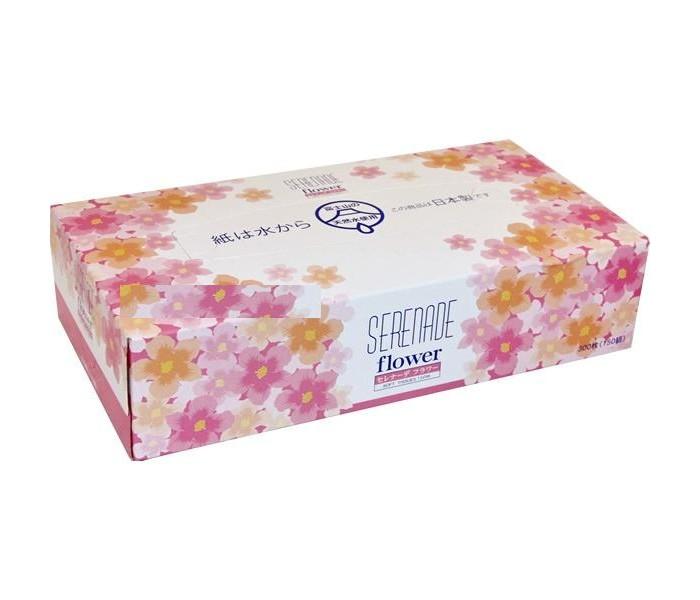 Салфетки Ideshigyo Бумажные салфетки Цветочная серенада двухслойные 150 шт. салфетки бранолинд где в аптеках г омска