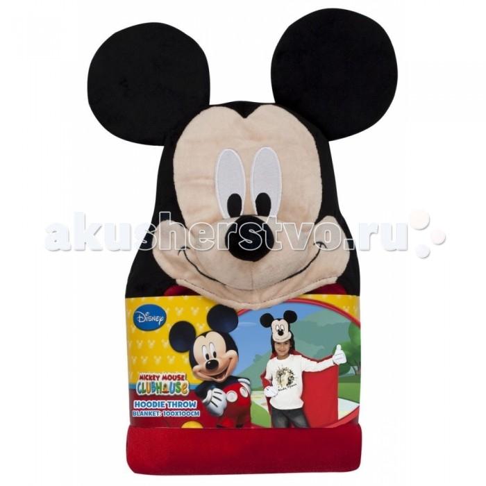 Плед Rubies с капюшоном Микки Маус размер 100 х 100 смс капюшоном Микки Маус размер 100 х 100 смМягкий плед с капюшоном Rubies Mickey Mouse понравится Вам и Вашему малышу за практичность и уют.   Плед с капюшоном идеален для осенних и зимних вечеров, когда за окном стужа, а дома так уютно и комфортно расположиться на любимом диване, укутавшись в мягкий теплый плед!   Веселая аппликация создаст радостное настроение перед сном после купания.  Размер пледа: 100х100 см.<br>