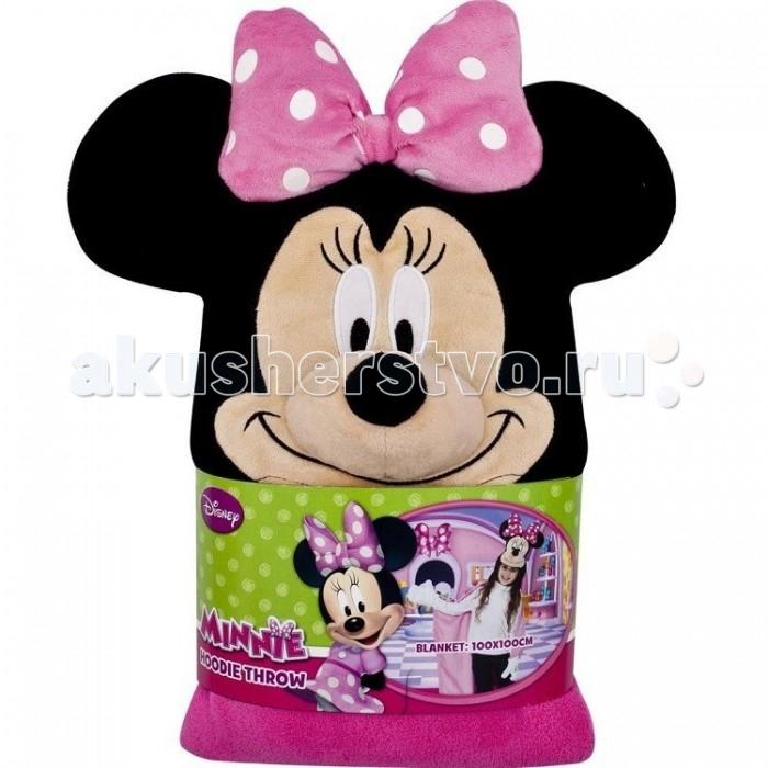 Плед Rubies с капюшоном Минни Маус размер 100 х 100 смс капюшоном Минни Маус размер 100 х 100 смДетский плед с капюшоном Rubies Minnie Mouse – удивительная и многофункциональная вещь, от приобретения которой выиграют все.   Родители, потому что получают для своих любимых чад тёплое и мягкое покрывальце.   Дети, потому что мягкий плед может использоваться как накидка или пончо, а это отличная возможность преобразиться из мальчика или девочки в любимого героя.  Данная текстильная продукция занимает высокие позиции на потребительском рынке благодаря  оригинальному дизайну и безопасным материалам.   Размер пледа: 100 x 100 см.<br>