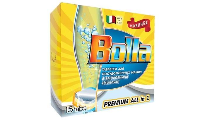 Бытовая химия Bolla Таблетки для посудомоечной машины 15 шт. средства для посудомоечных машин bolla таблетки для посудомоечной машины bolla 60шт 7в1
