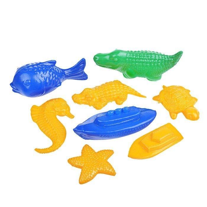 Игрушки для ванны СВСД Набор для купания №2 кораблик погремушки жирафики набор автобус и кораблик