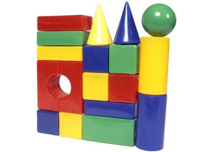 Купить Развивающие игрушки, Развивающая игрушка СВСД Строительный набор Стена-2 18 элементов