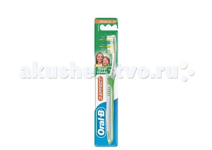 Гигиена полости рта Oral-B 3-Effect Maxi Clean 40 Зубная щетка средняя зубная щетка oral b 3 effect натуральная свежесть 40 средняя 1шт 1109749