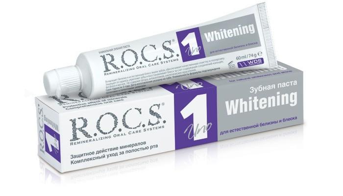 Гигиена полости рта R.O.C.S. Зубная паста UNO Whitening Отбеливание 74 гр зубная паста r o c s magic whitening 74 г