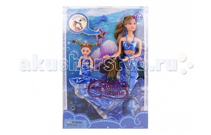 Куклы и одежда для кукол Defa Кукла-русалка 2 шт. в упаковке кукла defa lucy невеста 8341