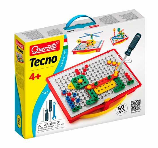 Конструктор Quercetti Техно (80 элементов)Техно (80 элементов)Конструктор Quercetti Техно (80 элементов) - развивает творческие способности у детей, внимание и усидчивость.   В наборе:  80 фрагментов  1 альбом<br>