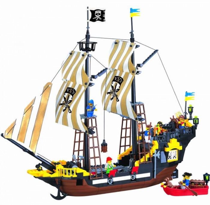 Конструкторы Enlighten Brick № 307 Пиратский корабль Brick 590 деталей конструктор enlighten brick каток c1104 1104
