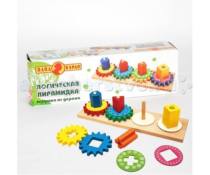 Деревянные игрушки Папа Карло Пирамидка 9457R