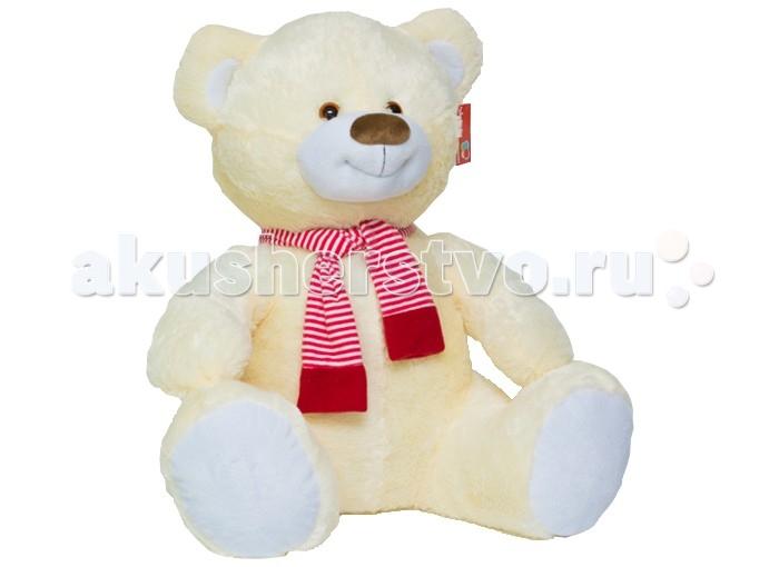 Мягкая игрушка Нижегородская игрушка Мишка большой с шарфом 80 смМишка большой с шарфом 80 смМишка большой с полосатым шарфом на шее непременно станет настоящим любимцем.   Веселый пушистый медвежонок с подвижными лапами изготовлен из высококачественного, гипоаллергенного искусственного меха и синтетического наполнителя, которые безопасны для здоровья ребенка.   Очаровательный мишка выглядит очень забавно и непременно поднимет настроение даже в самый грустный день. Его приятно держать в руках и даже спать с ним в одной кроватке.  Играя с медвежонком у ребенка формируются новые навыки, развиваются тактильные ощущения и фантазия.<br>