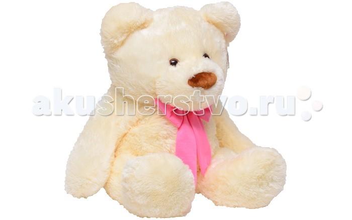 Мягкая игрушка Нижегородская игрушка Медведь большой 100 смМедведь большой 100 смМедведь большой с бантиком яркого цвета на шее непременно станет настоящим любимцем.   Веселый пушистый медвежонок с подвижными лапами изготовлен из высококачественного, гипоаллергенного искусственного меха и синтетического наполнителя, которые безопасны для здоровья ребенка.   Очаровательный мишка выглядит очень забавно и непременно поднимет настроение даже в самый грустный день. Его приятно держать в руках и даже спать с ним в одной кроватке.  Играя с медвежонком у ребенка формируются новые навыки, развиваются тактильные ощущения и фантазия.<br>