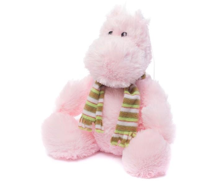 Купить Мягкие игрушки, Мягкая игрушка Нижегородская игрушка Бегемотик в шарфе 28 см