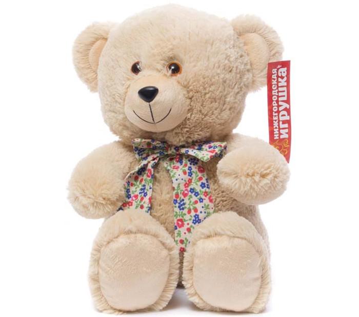 Купить Мягкие игрушки, Мягкая игрушка Нижегородская игрушка Медведь с бантом сидит 38 см