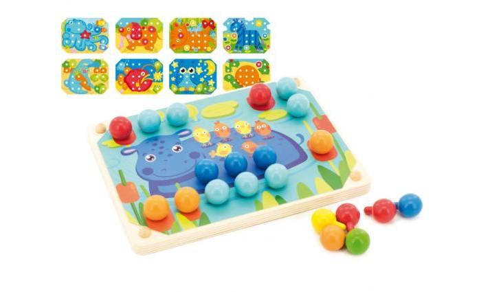 Деревянные игрушки Мир деревянных игрушек (МДИ) Мозаика-шнуровка деревянные игрушки мир деревянных игрушек мди лабиринт лев