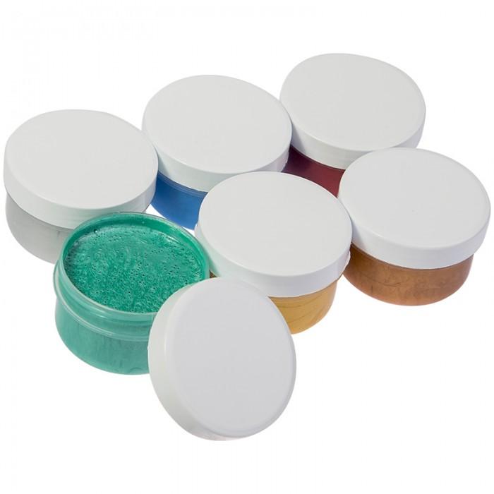 Краски Мульти-пульти Краски пальчиковые металлизированные Морские приключения Енота 6 цветов 360 г всё для лепки мульти пульти пластилин со стеком приключения енота 16 цветов 320 г