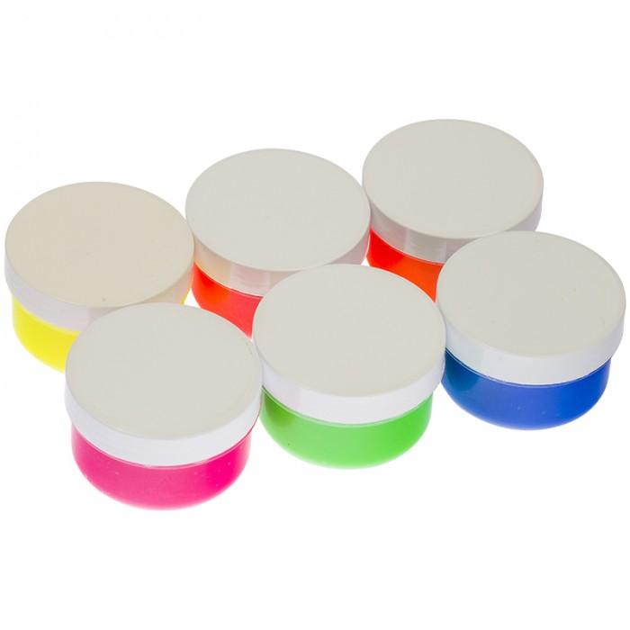 Краски Мульти-пульти Краски пальчиковые флуоресцентные Морские приключения Енота 6 цветов 360 г всё для лепки мульти пульти пластилин со стеком приключения енота 16 цветов 320 г