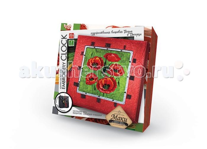 Наборы для творчества Danko Toys Комплект для творчества Embroidery clock Маки наборы для творчества danko toys набор для творчества вышивка бисером и лентами подсолнухи