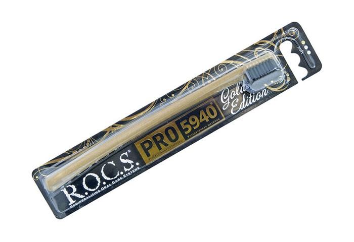 Гигиена полости рта R.O.C.S. PRO Gold Edition Зубная щетка мягкая лакалют щетка зубная active мягкая