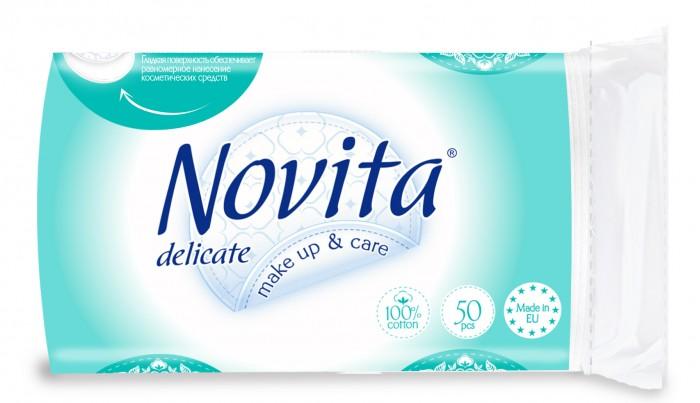 Гигиена для мамы Novita Косметические двусторонние ватные диски 50 шт.