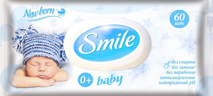 Салфетки Smile влажные New Born 60 шт.