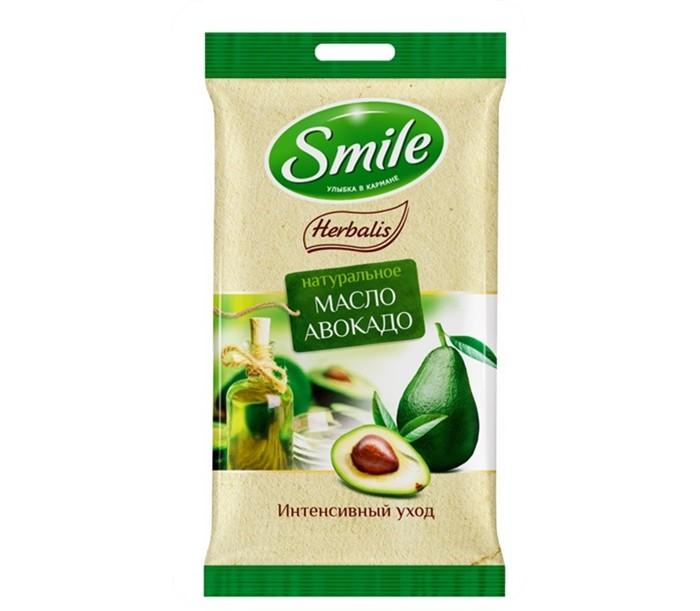 Салфетки Smile Салфетки влажные Herbalis с маслом авокадо 10 шт. летние шины yokohama 245 45 r17 99w bluearth a ae50