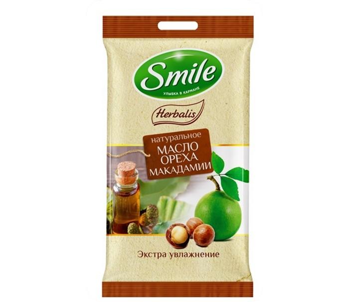 Салфетки Smile Салфетки влажные Herbalis с маслом макадами 10 шт. smile салфетки влажные special 15 шт антибактериальные с подорожником