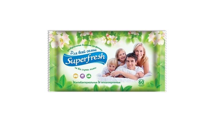 Салфетки SuperFresh Салфетки влажные Для всей семьи 60 шт. ма фолинь китайская медицина для всей семьи