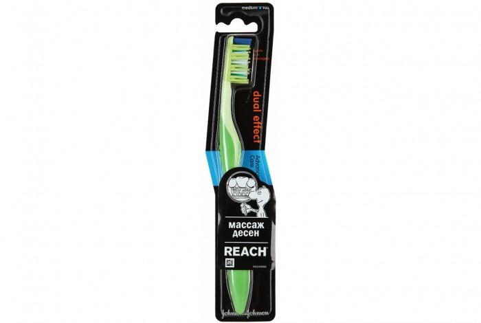 Гигиена полости рта Reach Dualeffect Зубная щетка средняя 12/REACH/2422404 aquafresh зубная щетка in between средней жесткости зубная щетка in between средней жесткости 1 шт