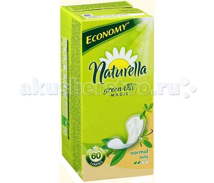Гигиена для мамы Naturella Женские гигиенические прокладки на каждый день Green Tea Magic Normal с ароматом зеленого чая Trio 60 шт.