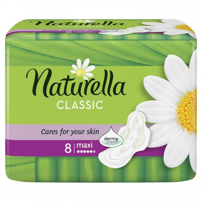 где купить Гигиена для мамы Naturella Classic Женские гигиенические прокладки ароматизированные с крылышками Camomile Maxi Single 8 шт. по лучшей цене