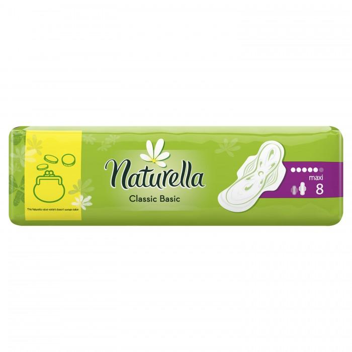 Гигиена для мамы Naturella Classic Женские гигиенические прокладки ароматизир с крылышками Basic Maxi 8 шт.