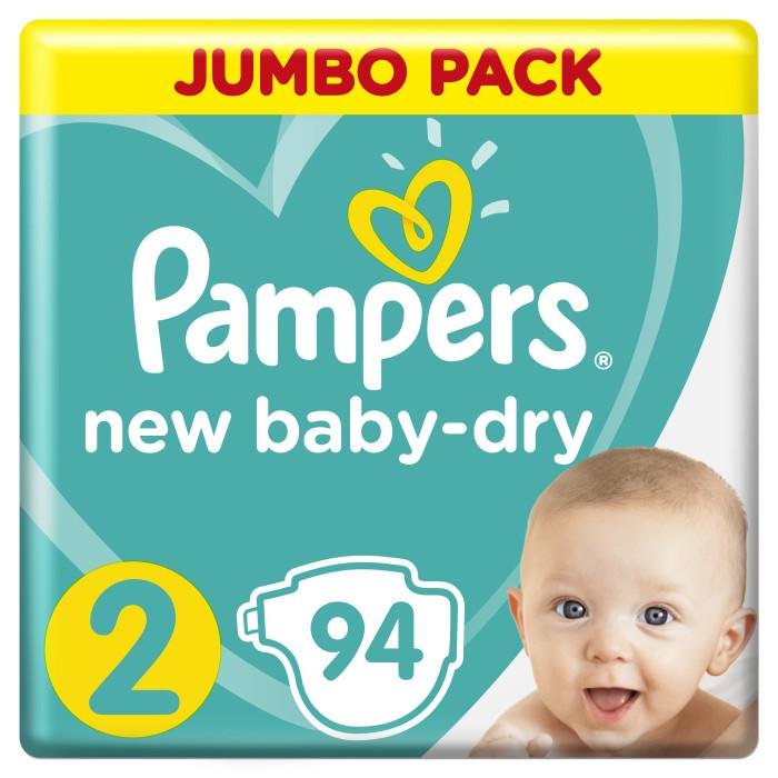 Подгузники Pampers Подгузники New Baby Dry Mini р.2 (3-6 кг) 94 шт. подгузники pampers newbaby dry mini 2 3 6 кг