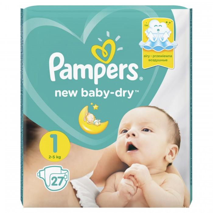 Подгузники Pampers Подгузники New Baby Dry р.1 (2-5 кг) 27 шт. подгузники pampers new baby dry newborn 2 5кг 43шт 4015400264491