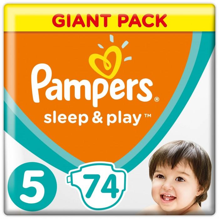 Фото Подгузники Pampers Подгузники Sleep & Play Junior р.5 (11-18 кг) 74 шт.