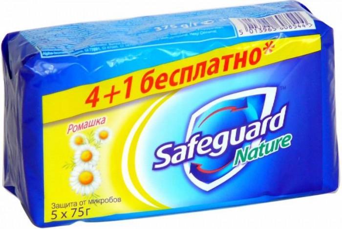 Косметика для мамы Safeguard Мыло туалетное с Ромашкой 5х75 г karali мыло туалетное віленскае барока цвет белый 80 г