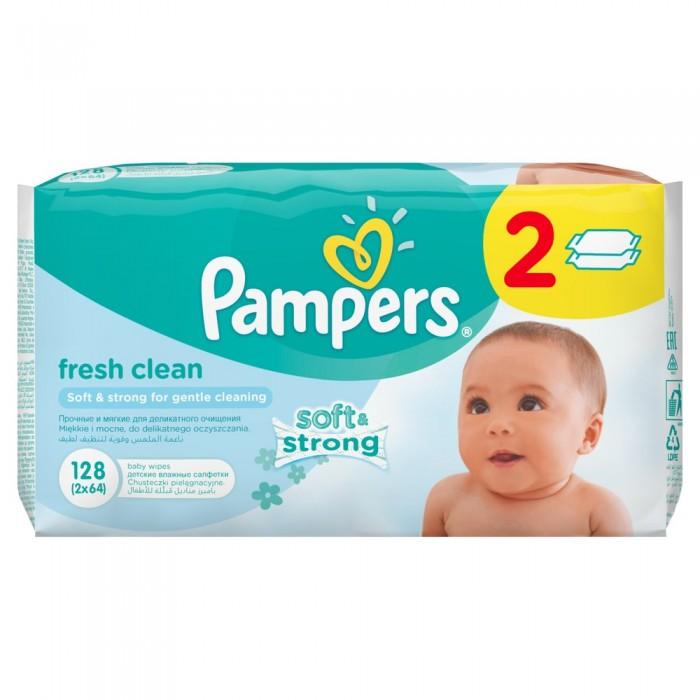 Салфетки Pampers Салфетки Baby Fresh Duo запасной блок 2х64 шт. carefree carefree салфетки plus large fresh ароматизированные 36 шт