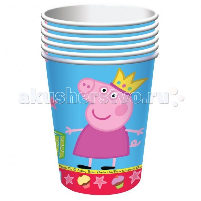 Товары для праздника Росмэн Стакан Пеппа Принцесса 220 мл 6 шт. стаканы бумажные peppa pig пеппа принцесса 220 мл 6шт