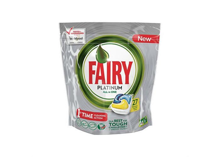 Бытовая химия Fairy P&G Капсулы для посудомоечных машин Platinum All in One - Лимон 27 шт. бытовая химия fairy p