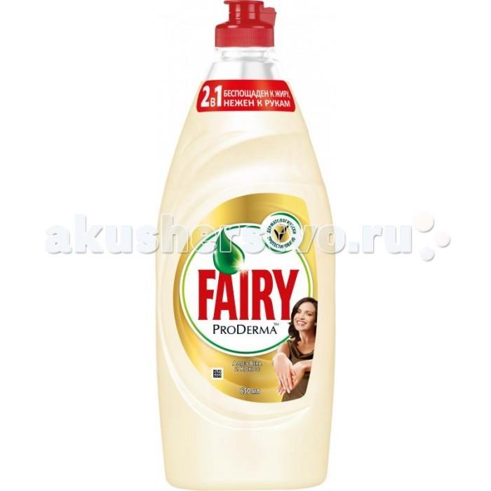 Фото Бытовая химия Fairy P&G ProDerma Средство для мытья посуды Алоэ Вера и Кокос 650мл