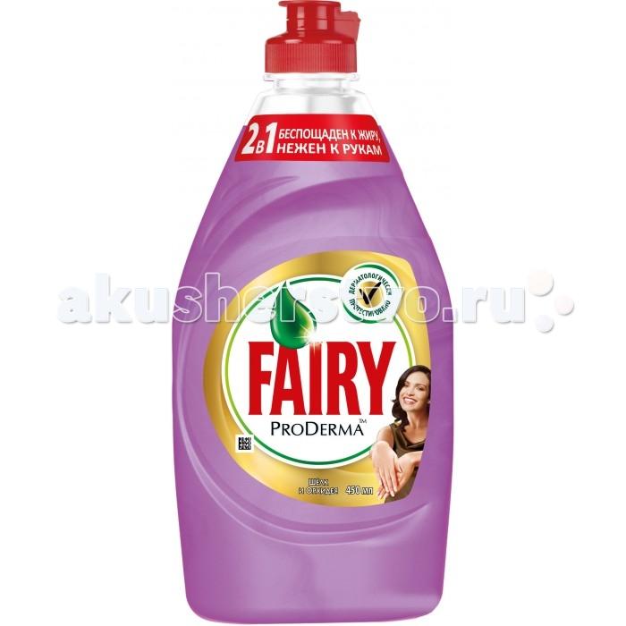 Фото Бытовая химия Fairy P&G ProDerma Средство для мытья посуды Шёлк и Орхидея 450 мл