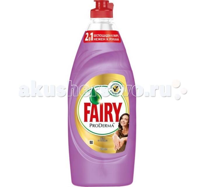 Фото Бытовая химия Fairy P&G ProDerma Средство для мытья посуды Шёлк и Орхидея 650 мл