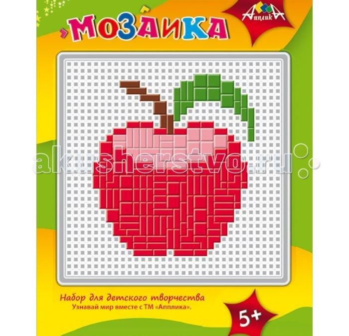 Мозаика Апплика Мозаика пластиковая основа образец А5 Яблоко апплика мозаика кот