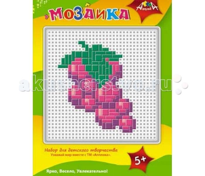 Мозаика Апплика Мозаика пластиковая основа образец А5 Виноград апплика мозаика кот