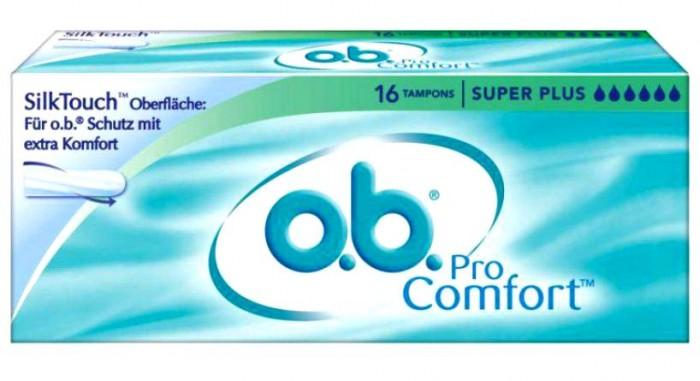 Гигиена для мамы o.b. Тампоны ProComfort Super Plus 16 шт. тампоны ов procomfort супер плюс 16шт