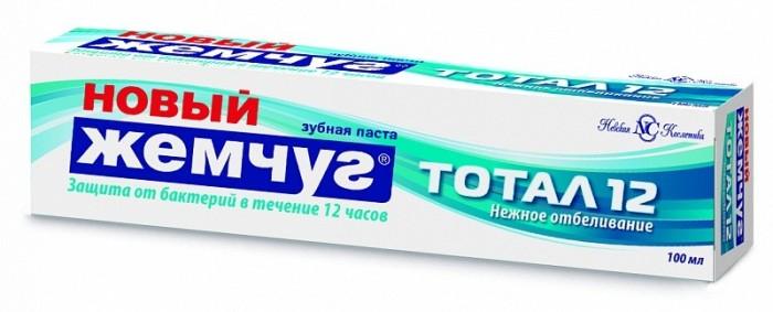 Гигиена полости рта Новый Жемчуг Зубная паста Тотал 12 Нежное отбеливание 100 мл гигиена полости рта colgate зубная паста бережное отбеливание 100 мл