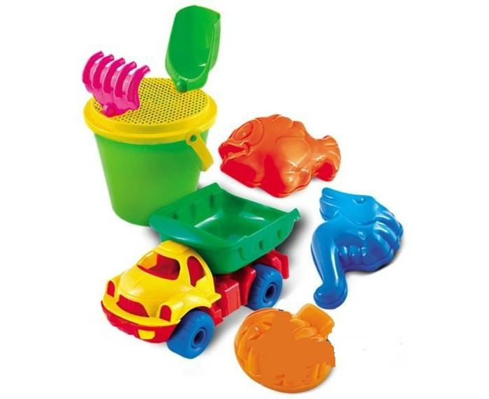 Игрушки в песочницу Нордпласт Набор для песка № 64 4m фигурки из формочки грузовики 4м